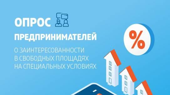 Министерство имущественных отношений изучает заинтересованность предпринимателей в аренде свободных площадей на льготных условиях.